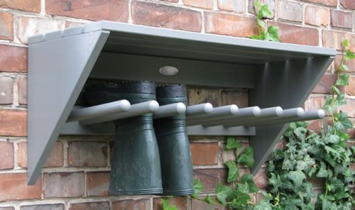 Great outdoor welly rack!