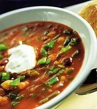 Tomat- och bönsoppa