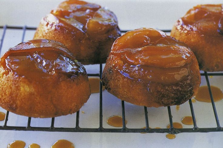 Maggie Beer's rustic apple upside-down cakes combine sweet caramelised apples with buttery cake.
