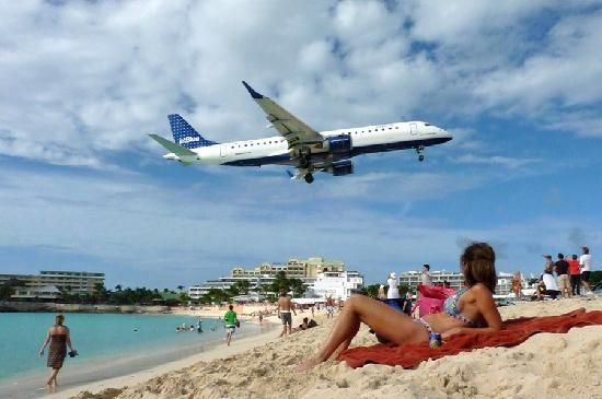 Maho Beach - Saint-Martin, Caraïbes