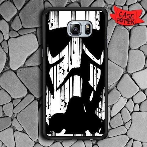 Black White Storm Trooper Samsung Galaxy S6 Edge Plus Black Case
