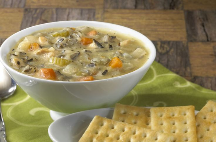 Slow Cooker Wild Rice and Chicken Soup