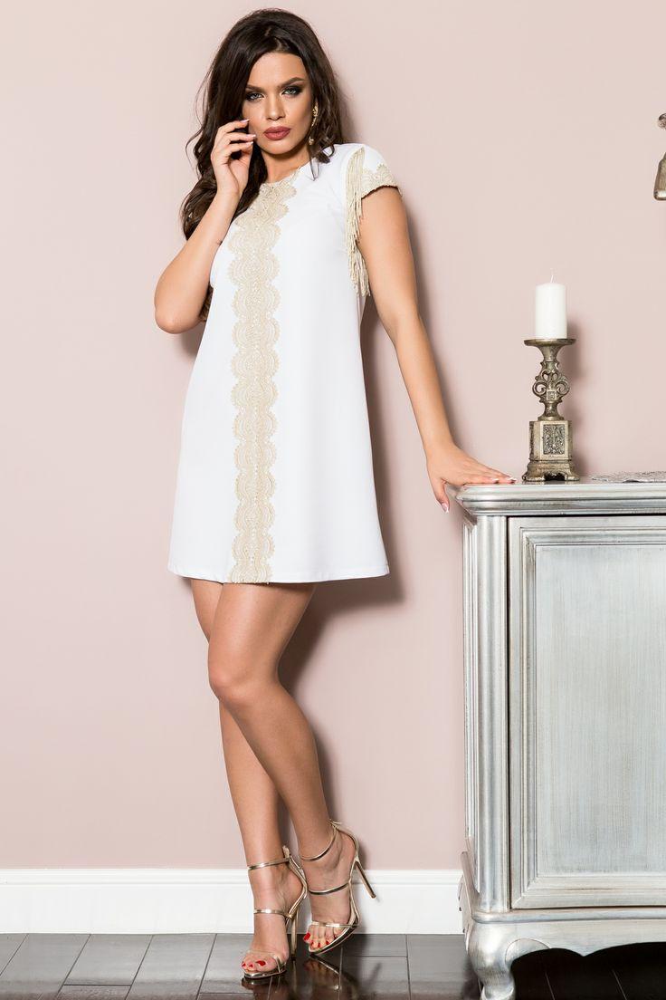 Rochie cu dantela si franjuri | Madelia Fashion - Magazin online haine și rochii de damă
