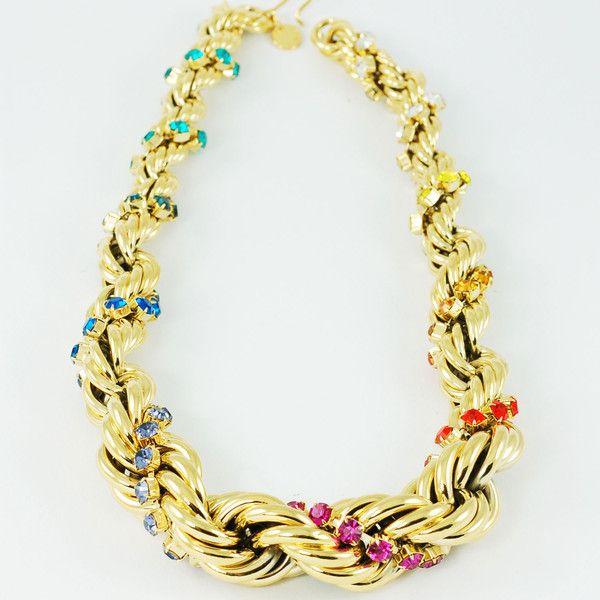CATERINA MARIANI BIJOUX Swarovski Big Necklace | La Luce http://shoplaluce.com/collections/caterina-mariani-bijoux/products/caterina-mariani-bijoux-swarovski-big