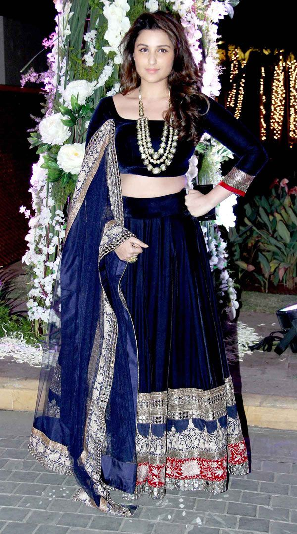 Parineeti Chopra at Manish Malhotra's niece Riddhi's sangeet. #Bollywood #Fashion #Style #Beauty