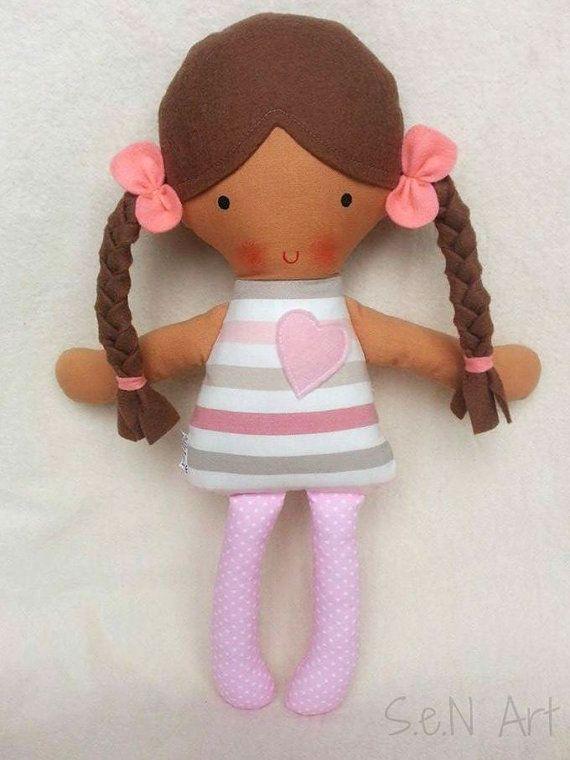 First Baby Doll Soft Doll Rag Doll Softie Cloth doll by SenArt1