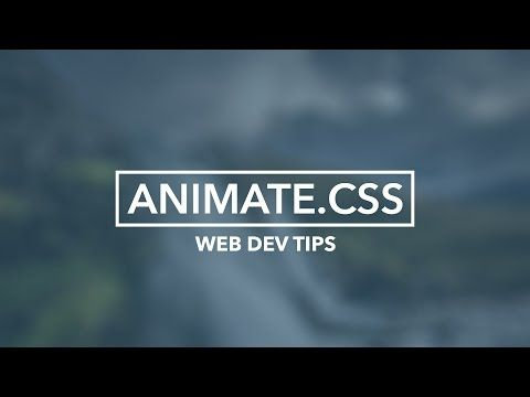 Simple CSS animations with animate.css - YouTube