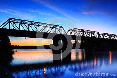 Sunset Victoria Bridge Penrith Australia by Showface, via Dreamstime