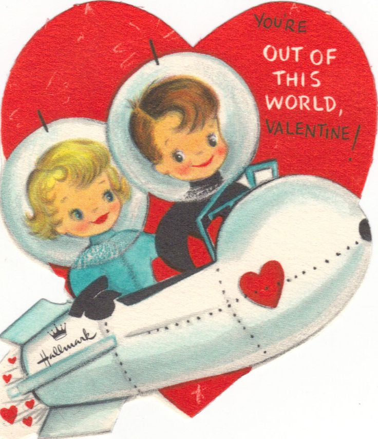 108 best Vintage valentine Cards Space images – Hallmark Valentine Cards