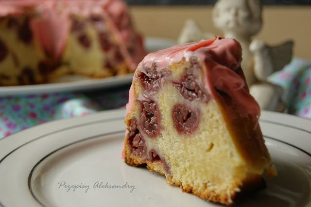 Aleksandra's Recipes: ORANGE YOGURT AND CHERRY CAKE
