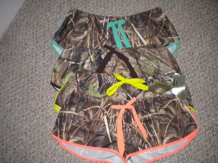New! Realtree Camouflage Cover Up Swim Shorts Swimwear Ladies~LARGE~5 COLORS #Realtree #CoverUp