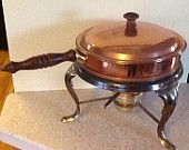 Vintage Copper Chafing Dish - like new!