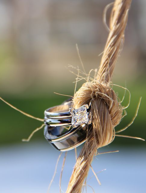 ring wedding photography, twine, knot,  (Indiana wedding photographer)