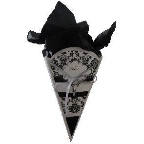 Gift Cone - Small - Damask -   GCONSDAM