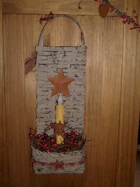 Basket lamp w/battery opperated taper candle~$25
