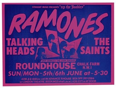 Ramones in London 1977 with Talking Heads