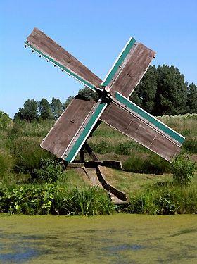 Polder mill (tjasker), Grou (Grouw), The Netherlands