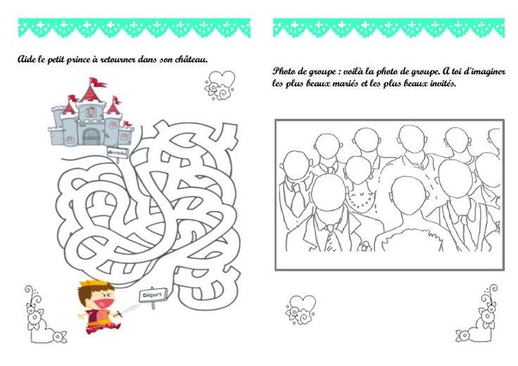 Livret de jeux activités mariage - home made (7/10 ans) filles en ...