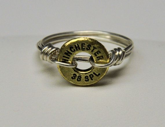 Ammo RingSilver Filled Wire WrappedR75 by RusticPassionGifts, $13.50