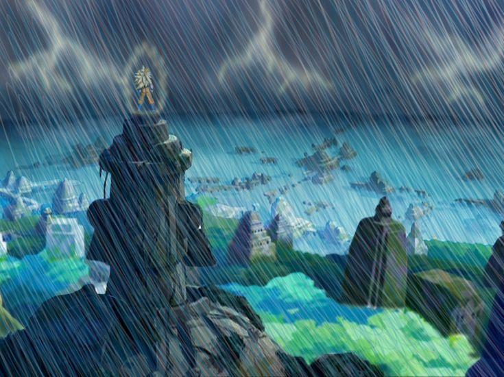 Background city rain (Goku) by Dade23
