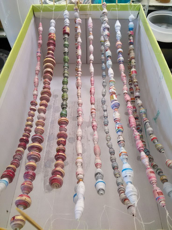 Drying paper beads