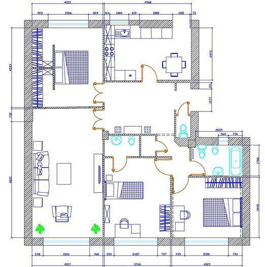 Vezi planul casei si baia