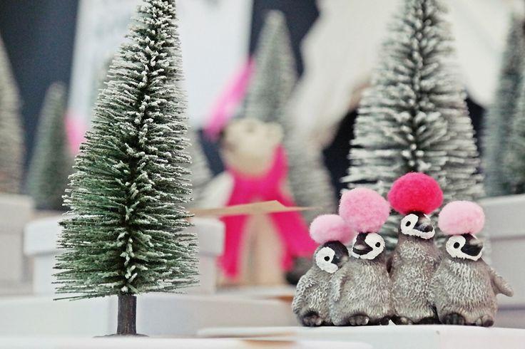 Weihnachts-Idee  DIY - selbstgemachter Adventskalender Winterwunderwald mit Boxen, Schneetannen und Schleichtieren   luzia pimpinella