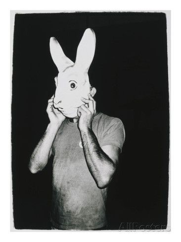 Man With Rabbit Mask, C. 1979 Giclee-trykk av Andy Warhol hos AllPosters.no