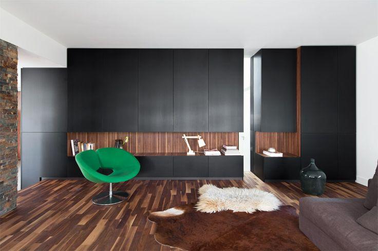 38 best woningen nieuwbouw modern images on pinterest entrance villas and arches - Bakstenen muur woonkamer ...