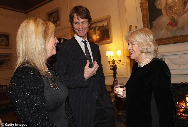Equestrian stars Gemma Tattersall and William Fox Pitt share a joke with the duchess
