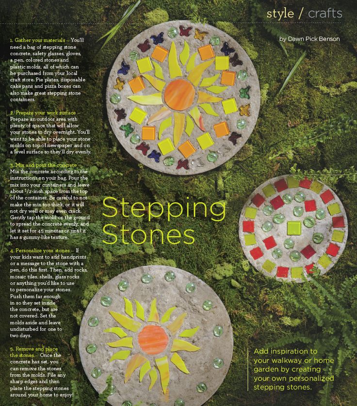1000 images about garden stepping stones on pinterest - Personalized garden stepping stones ...