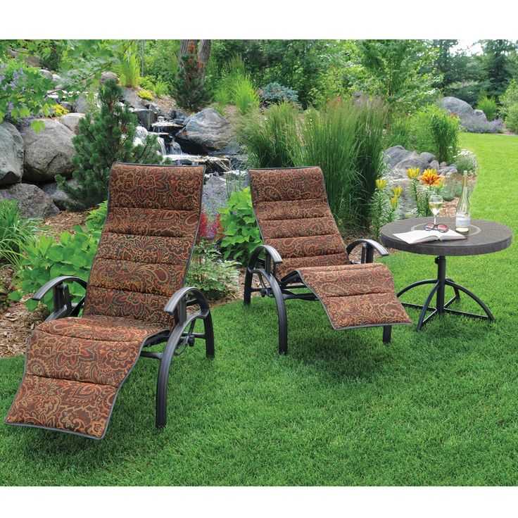 A favorite in style and comfort the holly hill comfort for Homecrest patio furniture