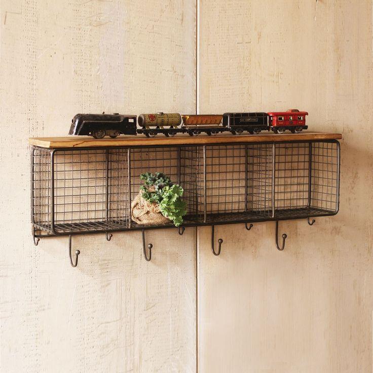 Best 25+ Wall shelf with hooks ideas on Pinterest | Diy coat hooks ...