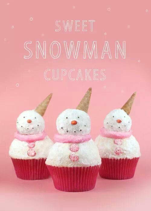 Snowman cupcakes from Bakerella