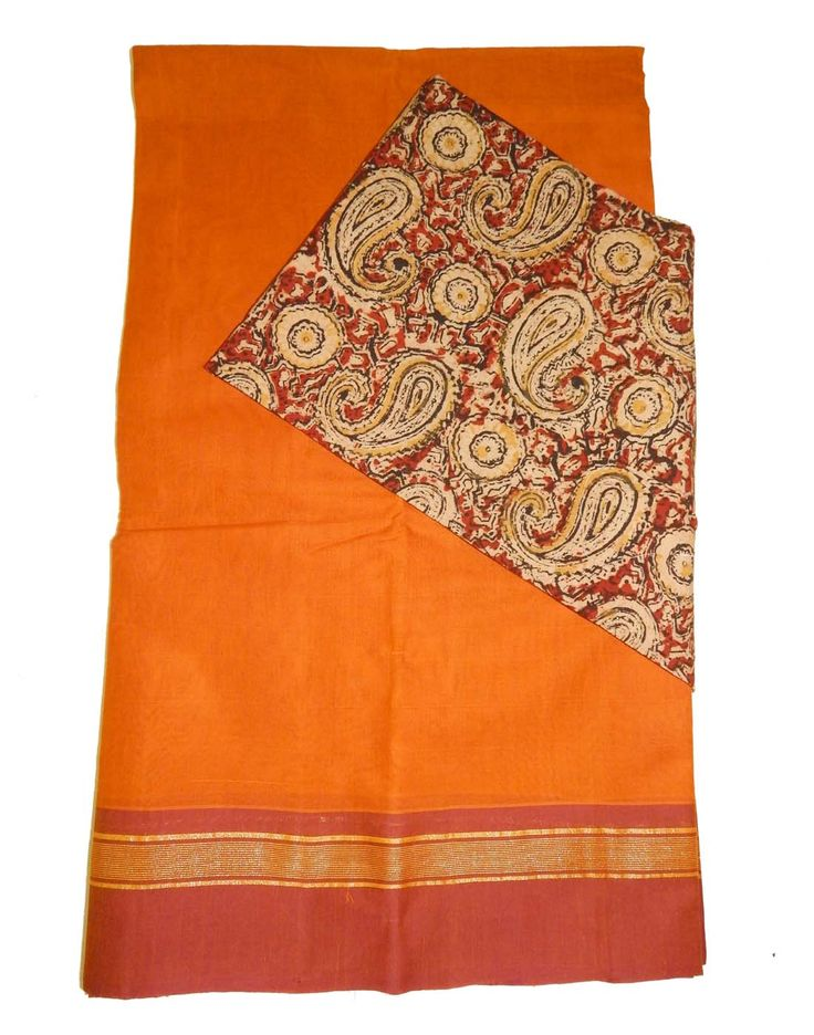 Kanchi Cotton Sarees with Kalamkari Blouse Price: 1690/- (For Bulk Buyers / Wholesale / Boutiques / Retail shops for any trade inquiries Please contact Immediately our WhatsApp no: 8801302000)