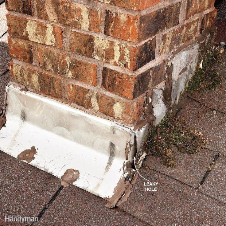 Leaks Around Brick Chimneys Leaking roof, Roof repair