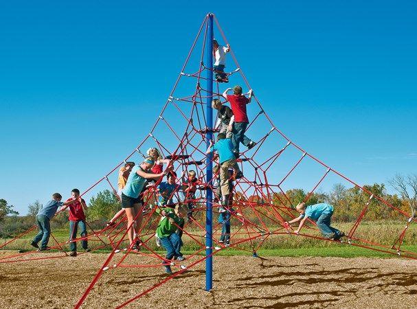 Lunar Blast Net Climber - Huge Cable Net Playground Climber