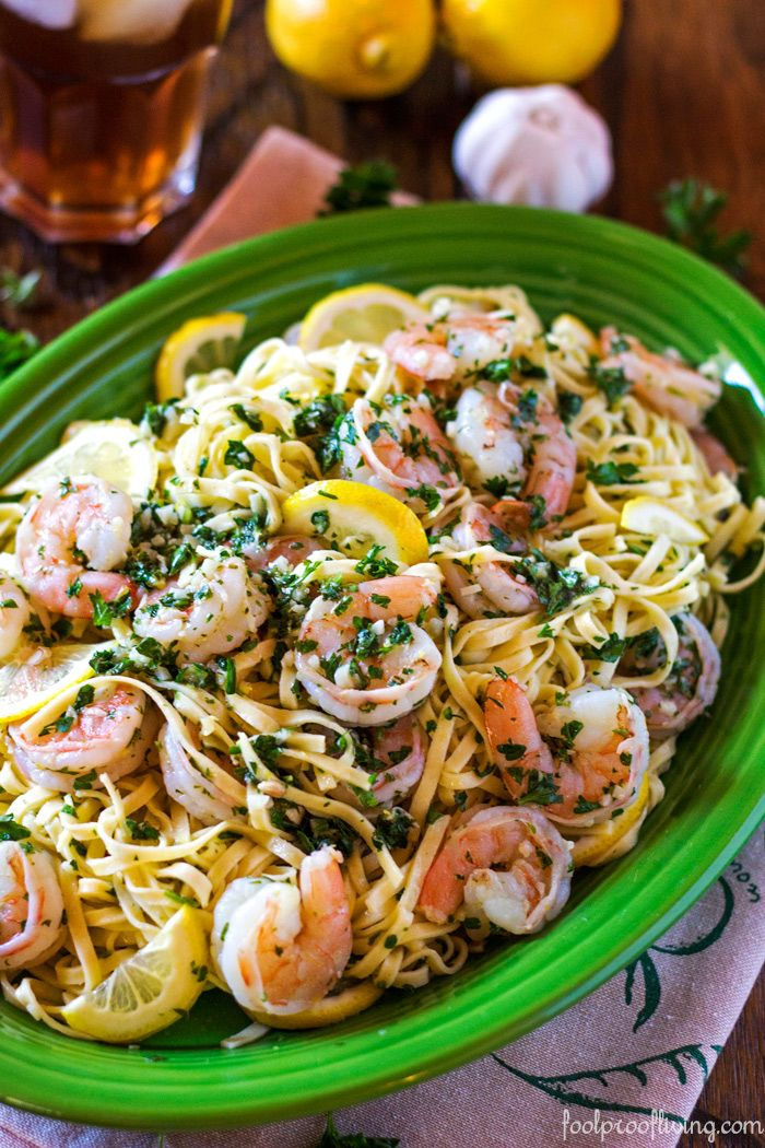Linguine with Shrimp Scampi Recipe - Easy to make and delicious! #weeknightdinners #shrimp #linguine