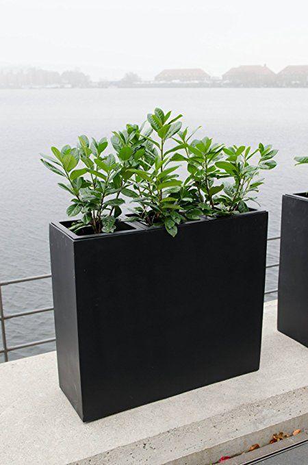 "Pflanzkübel Trennelement Fiberglas ""Elemento"" anthrazit: Amazon.de: Garten"