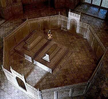 Taj Mahal Cenotaphs (for show- tombs with bodies are on an underground level)-  Shah Jahan and Mumtaz Mahal