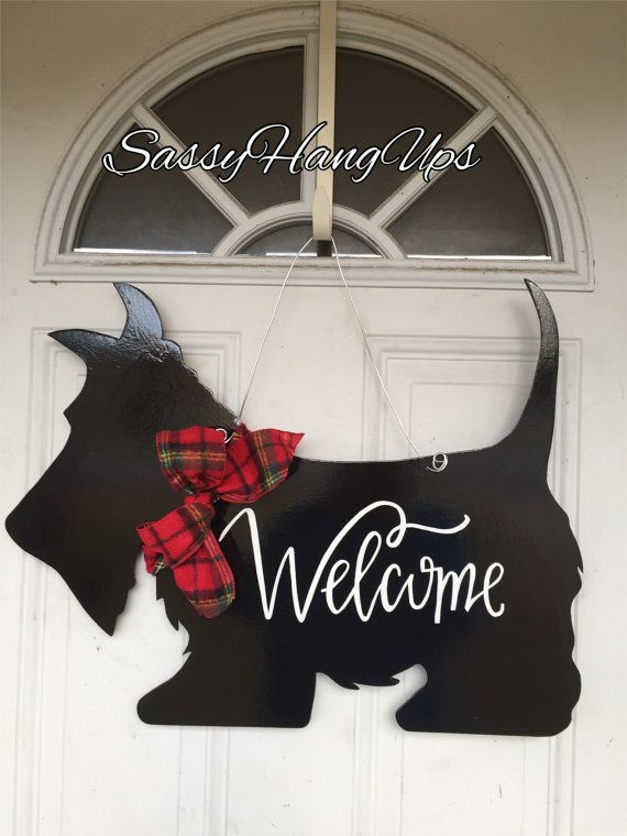 Scottie Dog Door Hanger Scottie Dog Scottish by SassyHangUps                                                                                                                                                                                 More