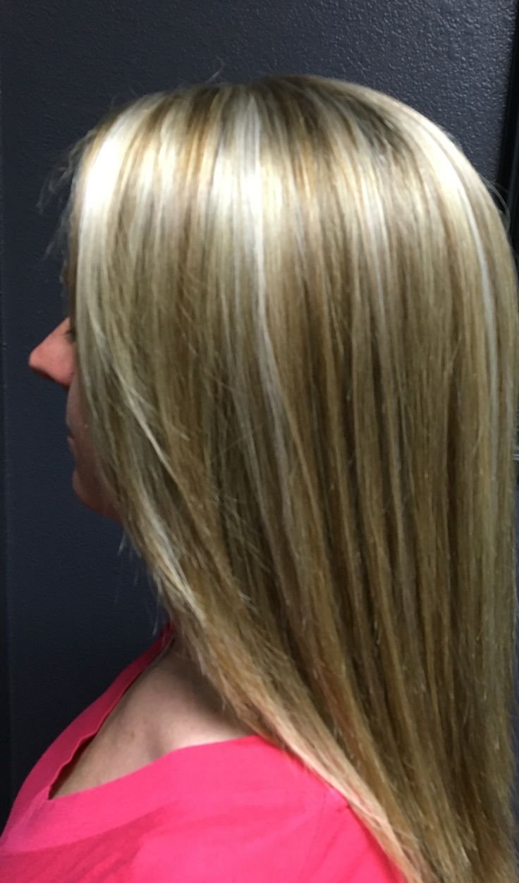 Platinum Icy Blonde Highlights With Sandy Brown Lowlights