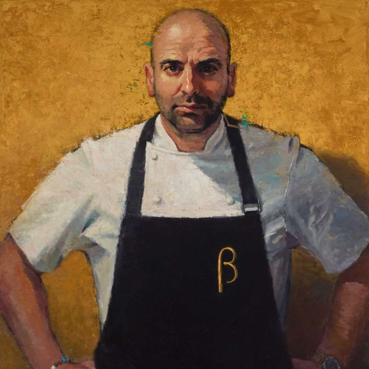 Archibald Prize Finalist portrait of George Calombaris and won the Packing Room Prize 2016