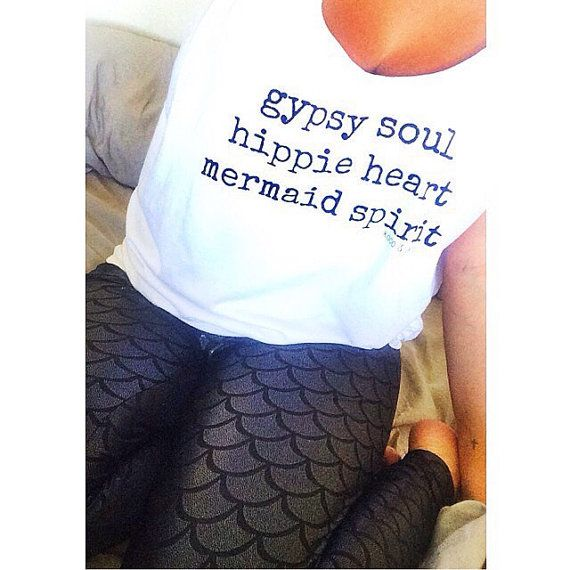 Gypsy Soul Hippie Heart Mermaid Spirit Tank Top white beach ocean summer surfer casual hipster yoga soft long wild and free