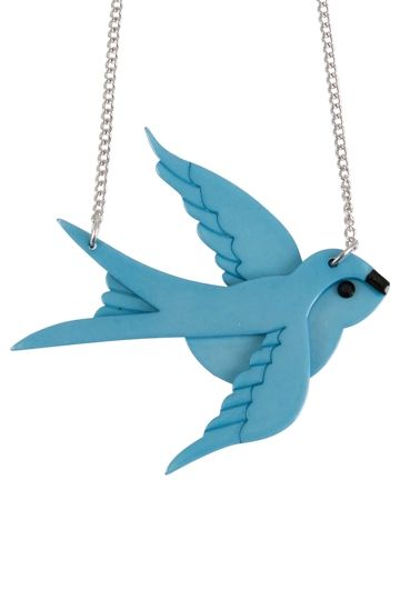 Erstwilder Bluebird Of Happiness Necklace - Womens Necklaces - Birdsnest Clothing Online
