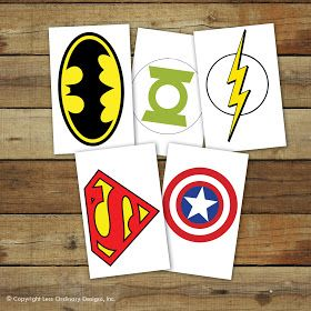 Superhero party! Free printables!