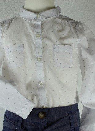 Kaufe meinen Artikel bei #Mamikreisel http://www.mamikreisel.de/kleidung-fur-madchen/langarm-blusen-und-hemden/31326000-neu-jacadi-paris-festliche-bluse-punkte-gr-98-3j