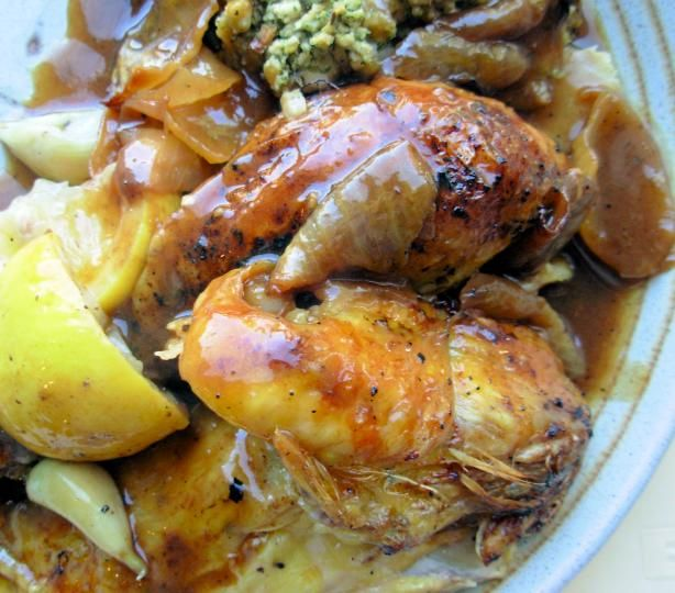 Engagement Roast Chicken (Barefoot Contessa) from Food.com: After making this, I want to marry myself, it tastes SO good! LOL This is quite simple, juicy and VERY flavorful!