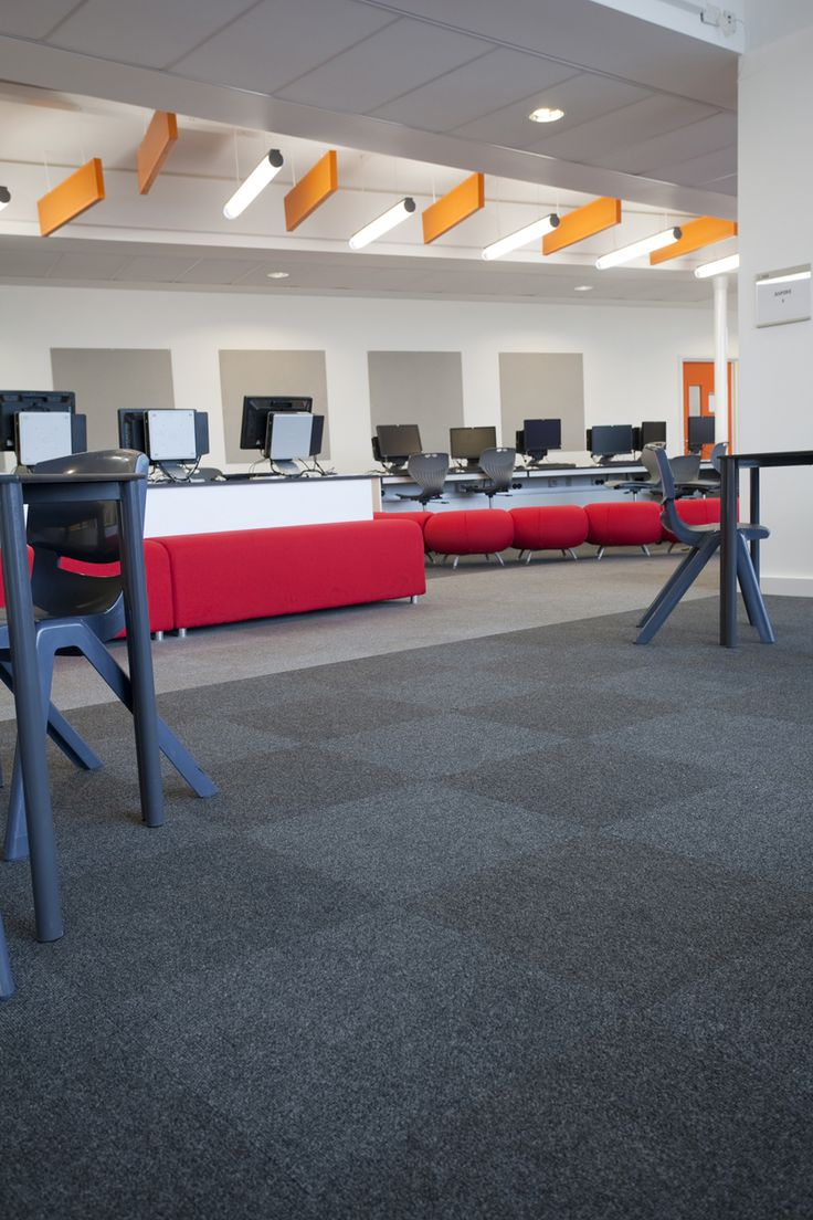 36 best carpet schools education images on pinterest carpets supacord fibre bonded carpet tiles in anthracite and steel grey for school computer room baanklon Image collections
