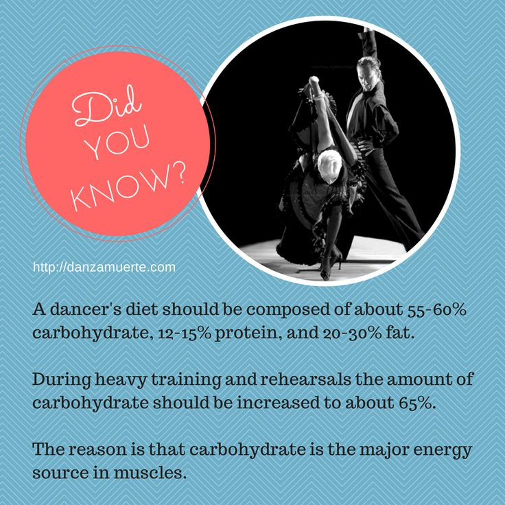 Did you know??? #dance #nutrition